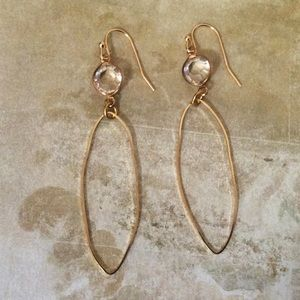 New Gold Plated Earrings +Anthropologie Gift Bag